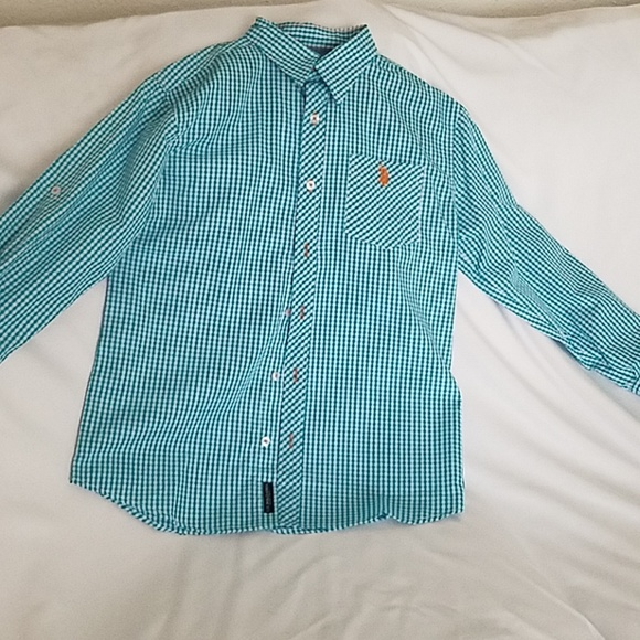 U.S. Polo Assn. Other - NWOT. Aqua and white button down collared shirt